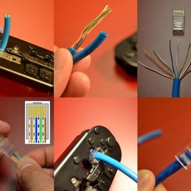 Подключение сетевого шнура интернета